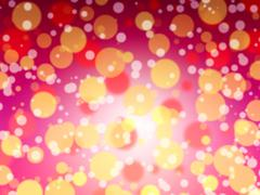 Festive Background With Natural Bokeh And Bright Golden Lights Stock Photos