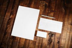 Blank stationery set Stock Photos