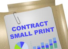 Contract Small Print concept Stock Illustration