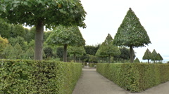 Landscaped Hedges and Trees at Frederiksborg Castle Gardens Stock Footage