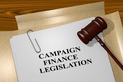 Campaign Finance Legislation - legal concept Stock Illustration