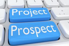 Project Prospect concept Stock Illustration