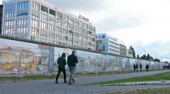 The East Side Gallery in Berlin Stock Footage