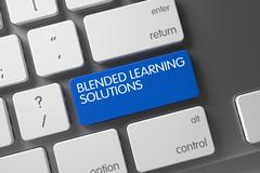 Blended Learning Solutions Keypad. 3D Stock Illustration