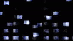 A flickering, analog TV signal with bad interference, static, and color bars Stock Footage
