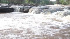 Streamlet in the rainy season in the tropical forest at Phurua, Loei, Thailand Stock Footage
