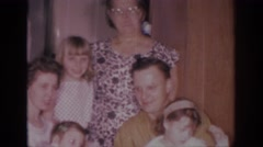 1966: family photo posing together bonded love SACRAMENTO CALIFORNIA Stock Footage