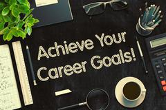 Achieve Your Career Goals Concept. 3D render Stock Illustration