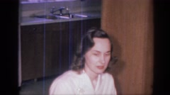 1966: when the family gets together, vintage clip of family Stock Footage