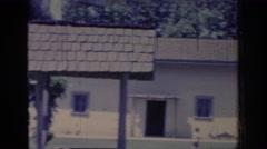 1966: sighting of a normal apartment complex. SACRAMENTO CALIFORNIA Stock Footage
