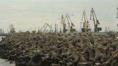 Constanta, Romania - 26 august 2016 Port of Constanta Stock Footage