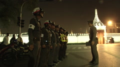 Police Line up at Grand Palace Stock Footage