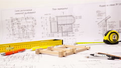 Home construction process. Stock Footage