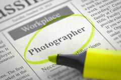 We are Hiring Photographer. 3D Piirros