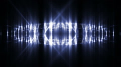 VJ Fractal blue kaleidoscopic background. Stock Footage