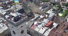 Market Square in Lviv Stock Footage