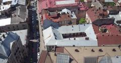 The span of the Potocki Palace in Lviv Stock Footage