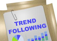 Trend Following concept Stock Illustration