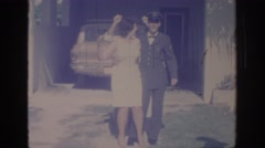 1967: proud mother with her son after joining the military. OKLAHOMA Stock Footage