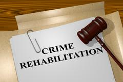Crime Rehabilitation concept Stock Illustration