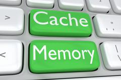 Cache Memory concept Stock Illustration