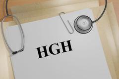 HGH biological concept Stock Illustration