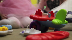 Close up toy plane from constructor Stock Footage
