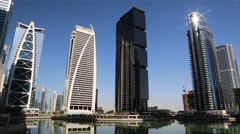 Jumeirah Lakes Towers, Dubai Multi Commodities Centre, UAE Stock Footage