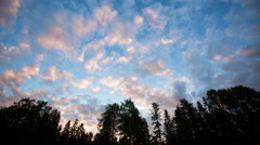 Beautiful Morning Clouds Timelapse Stock Footage