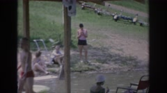 1967: man waves to unseen individual OKLAHOMA Stock Footage