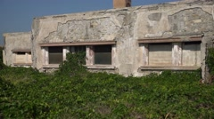 Ruin of a old building in Rhodes, Greece Stock Footage