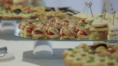 Vegetable Snacks (Tilt Focusing) Stock Footage