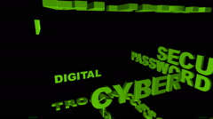 Word cloud web security Stock Footage