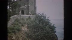 1959: lone building on ridge by oceanside. COLORADO Stock Footage