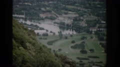 1959: the spectacular panoramic view of a village with pools and patches  Stock Footage