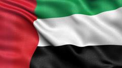 United Arab Emirates flag seamless loop Stock Footage