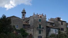 Ancient Buildings Bracciano Italy Stock Footage