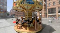 Dnepr, Ukraine children ride on the carousel,  Stock Footage