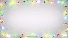 Christmas light bulbs frame seamless loop 4k (4096x2304) Stock Footage