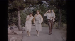 1959: come on let's get the family together and go do something today COLORADO Stock Footage