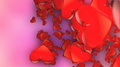 HD Loopable Background with nice abstract exploding heart Stock Footage