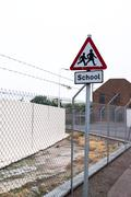 Funny School Sign placement Stock Photos