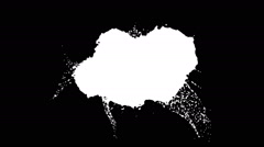 Colored paint. grey drops falls and splatters on white Arkistovideo