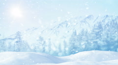 Christmas landscape loopable background 4k (4096x2304) Stock Footage