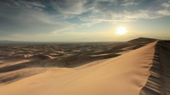 Sunset over the Gobi desert, dune Hongoryn, Mongolia. Full HD Stock Footage