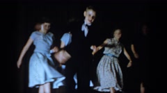 1965: a group of kids dances on stage SAINT LOUIS MISSOURI Stock Footage