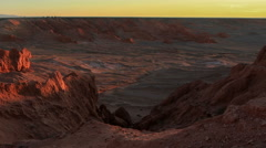 Sunset over the canyon Bayanzag, Mongolia. Full HD Stock Footage