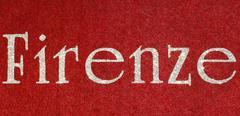 Firenze Written of an Italian City with glitter font Stock Illustration