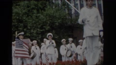 1965: marching band performance. SAINT LOUIS MISSOURI Stock Footage