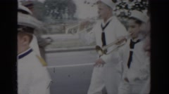 1965: marching band plays instruments SAINT LOUIS MISSOURI Stock Footage